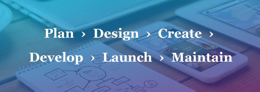 Plna, Design, Create, Develop, Launch, Maintain