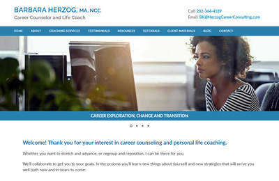 Barbara Herzog home page screenshot