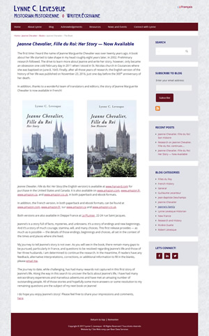 Lynne C. Levesque's book page screenshot