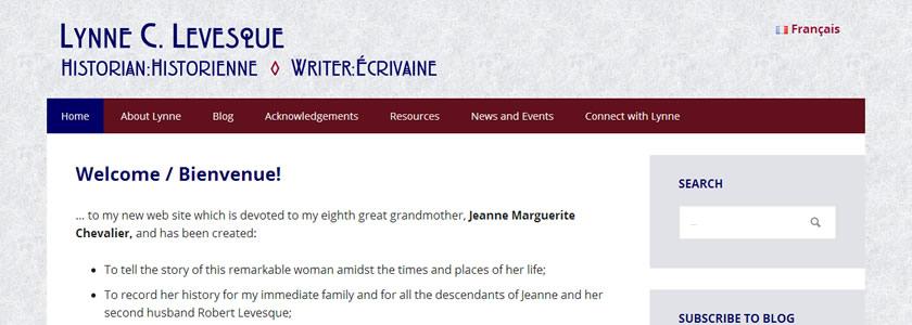 Lynne C. Levesque English version screenshot