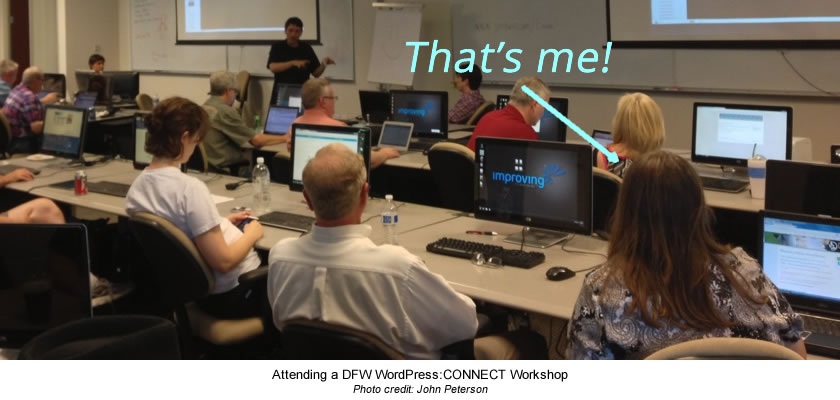 Sylvia Tooker at DFW WorPress CONNECT Workshop