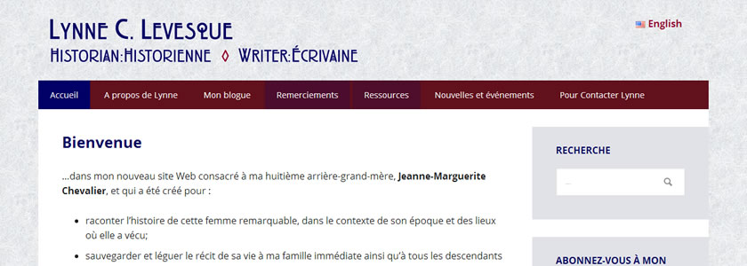 Lynne C. Levesque French version screenshot