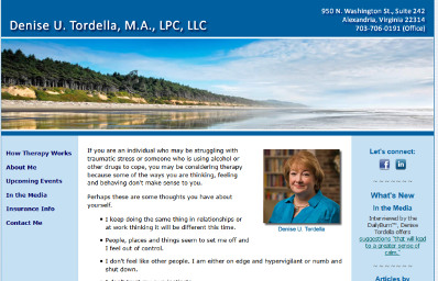 Denise Tordella before website redesign screenshot