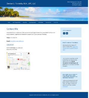 Contact page screenshot
