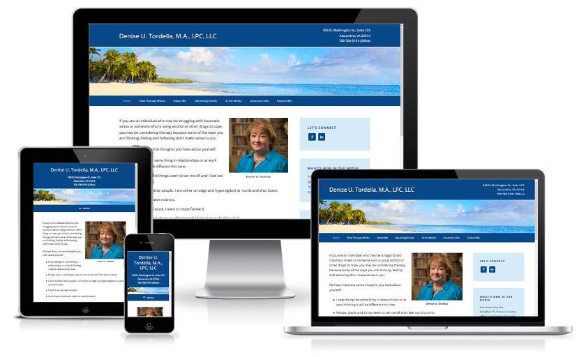 Website mobile responsive screenshots