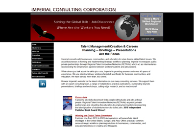 Imperial Consulting Corporation before website redesign