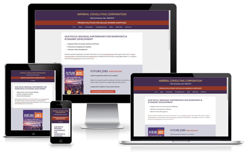 Imperial Consulting Corporation responsive screenshots