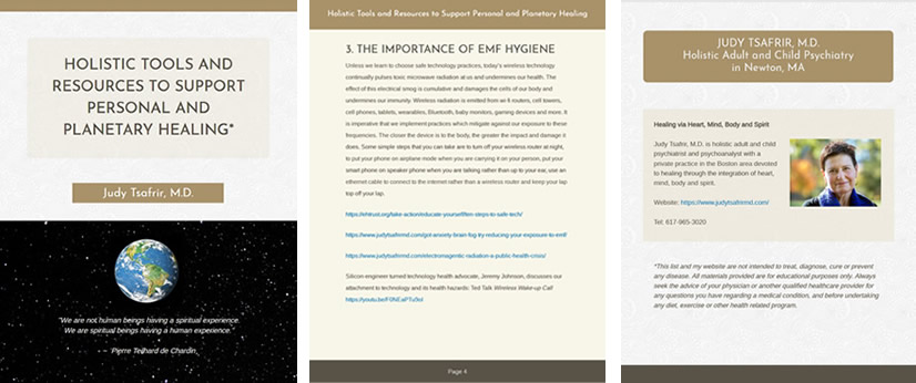 Front, interior and back ebook pages