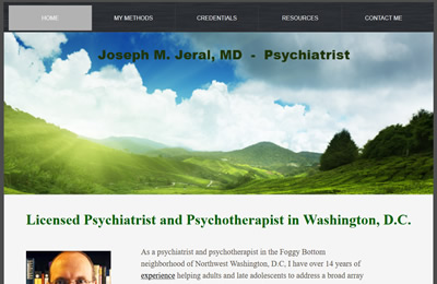 Joseph Jeral website before redesign