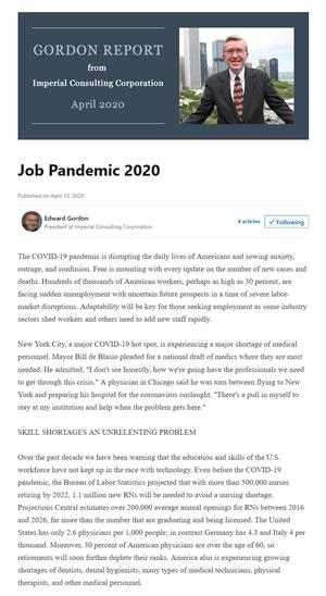 Screenshot of LinkedIn article
